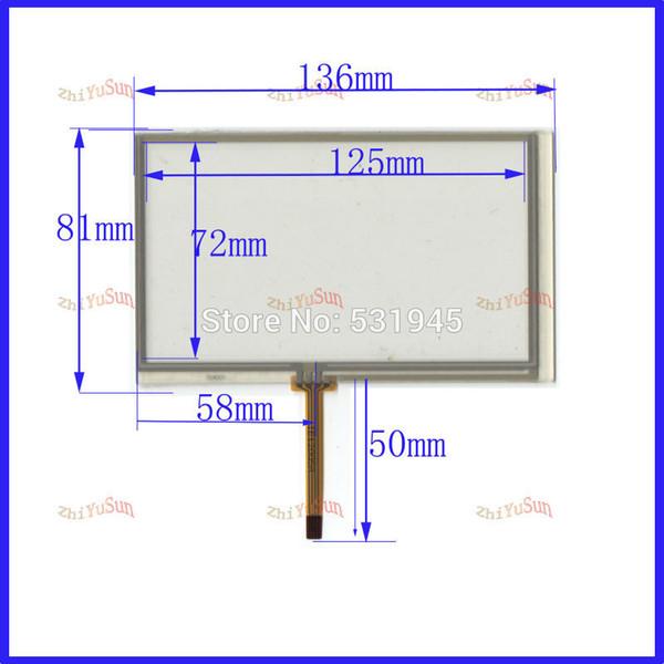 Großhandels-POST 5.4 Touchscreen für PIONEER AVH-P3100DVD NEUES GLAS für GPS-Note geben Verschiffen frei 054005 136 * 81