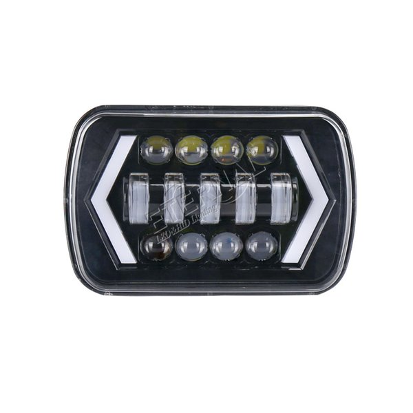 90W 5x7 (6x7)offroad headlight H4 headlamp running lights amber turn signal off road wrangler truck trailer tractor 4x4 vehicle auto