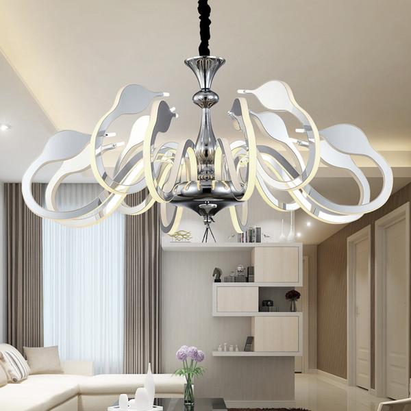 2017 New Arrival LED Swan Pendant Lighting Bedroom Living Room Creative  Hanging Decoration Light Drop Lamp