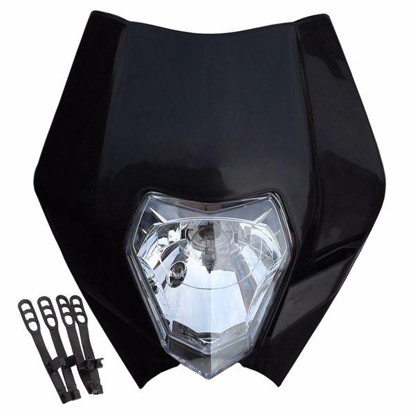 top popular TKOSM 2017 Motorcycle Dirt Bike Motocross Supermoto Universal White Orange Black Green Headlight For KTM SX EXC XCF SXF SMR Headlamp 2020