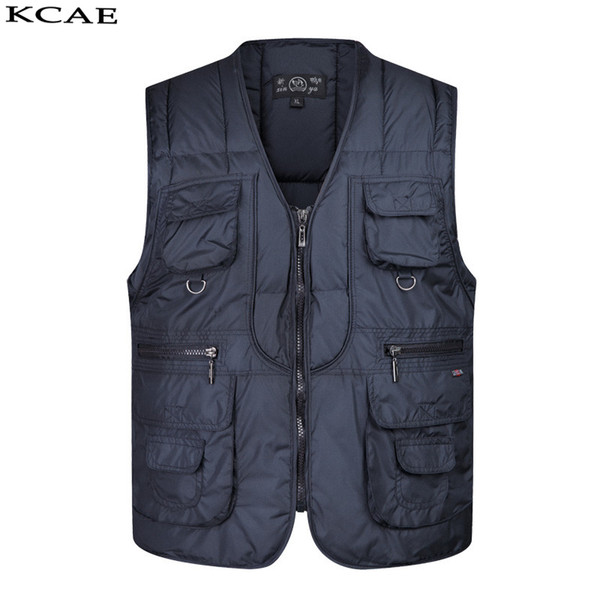 Wholesale- 2016 Winter thickening Sleeveless Vest for Shooting pocket Men Causal Journalist Photographer Vests Jackets Free Shipping