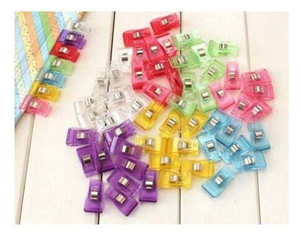 500pcs clover wonder clips PVC Plastic Clips For Patchwork Sewing DIY Crafts, Quilt Quilting Clip 3.5*1.8CM