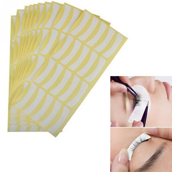 Wholesale- 100 pair Paper Patches Eyelash Under Eye Pads Lash Eyelash Extension Paper Patches Eye Tips Sticker Wraps Make Up Tools