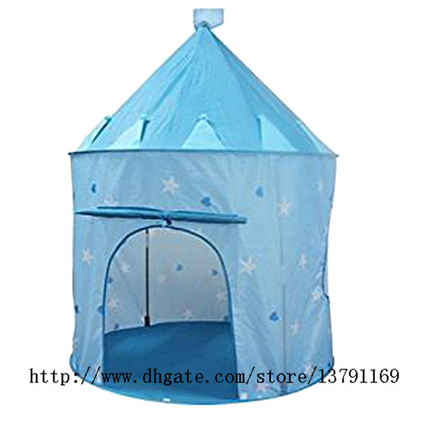 Portable Play Tent Prince Princess Castle Playhouse Indoor Outdoor Foldable Toy Tent for Kid Child Baby