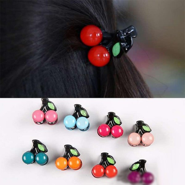 New Arrival Cute Fruit Cherry Hair Claws Hairpins For Women Girl Hairgrips Hair Accessories Leaves Accessories Clips