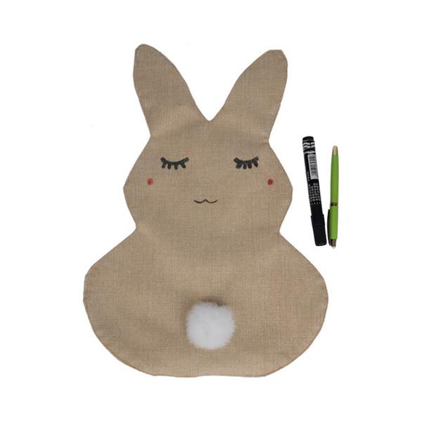 Милый Кролик Сад Флаг Крытый Открытый Домашнего Декора Дома Ремесла Украшения Игрушки
