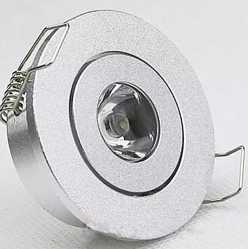 Mini lampe de cabinet led downlight 1W (taille de trou: 45mm), LED Star Light certifiée CE RoHS, LED Spot de plafond LLFA