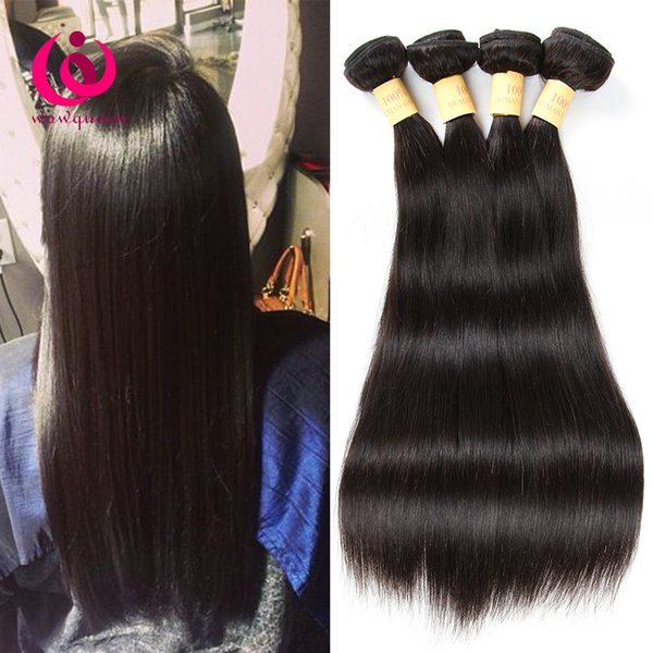 Brazilian Human Weave 8A Straight Hair Wow Queen Products Cheap Price 4Bundles 8-28inch Indian Malaysian Peruvian Virgin Hair Extensions