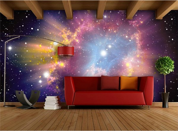 Custom Mural 3d Room Wallpaper European Style Galaxy Cloud Wall Mural Fluorescent Wallpaper Living Room Sofa Backdrop Home Decor Wallpaper Hd A