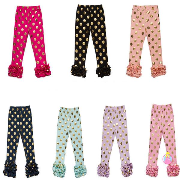 Girls Leggings kids dot gold sequins pants Autumn New children Bottoms girls princess pants baby girls trouser 7 colors