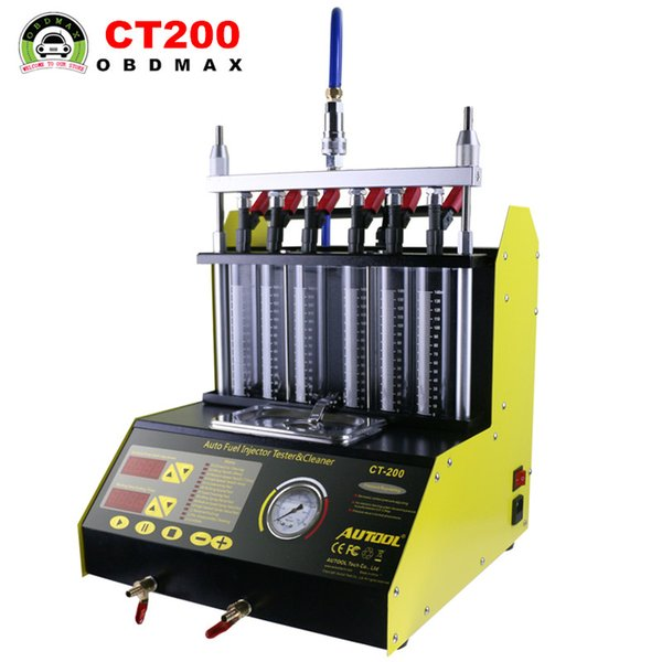 CT200 gasonline 6/4 cylinder Car Motorcycle Auto Ultrasonic Injector Cleaning Tester machine 220/110V Better than Launch CNC602A Injector Cl