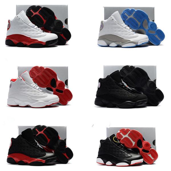 chaussures de basket enfants 2019 Enfants Athletic Garçons Filles 13 XIII Sneakers Jeunes Enfants Sports Baskets Plein Air Athletics chaussures Enfants Taille 28-35