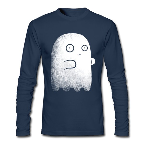 Ghost style boy's unique design tee shirt new long sleeve clothes fine cotton for men online shopping T-shirt 2XL