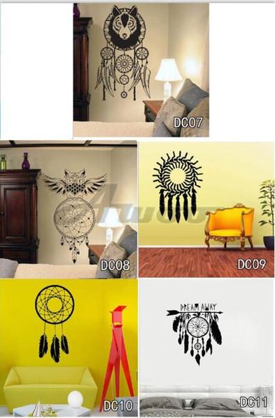 Feather Vinyl Decals Art Wall Sticker Home Decor Butterflies Wall Stickers Islamic Romantic Plumage OWL Decoration