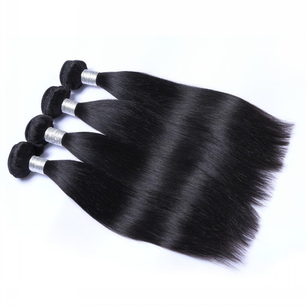 Grade 5A-Top Quality!!!! Brazilian Peruvian Indian Hair Extensions Silk straight Double Weft No Shedding No Tangle Durable 100g/pc& 3pcs/lot