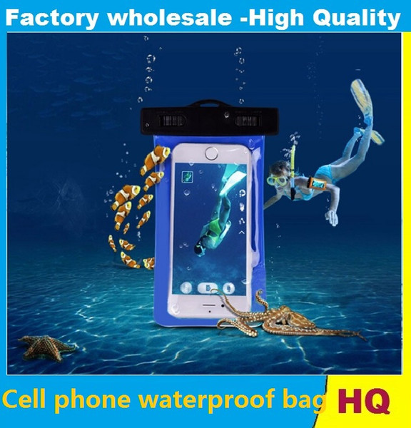 Universal water proof case for samsung galaxy s7 s6 Iphone 5 6 6S Plus,Cell Phone Dry Bag waterproof phone bag 10pcs
