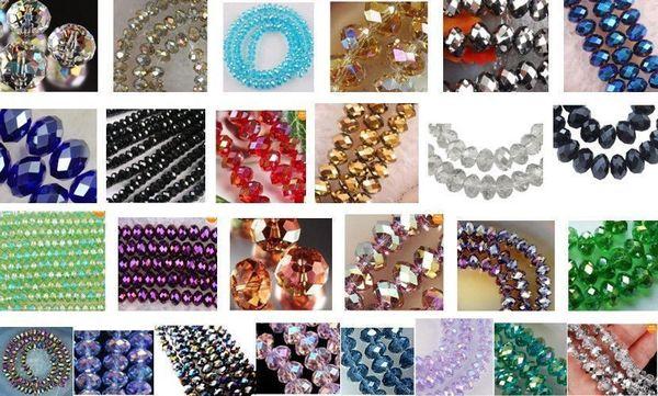 En gros Nouveau 1000pcs 4x6mm Cristal à facettes en vrac perles multicolores couleurs
