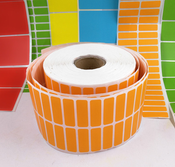 30*10mm 8000pcs/roll colorful blank paper sticker new plain Labels sticker office printer direct print barcode sticker