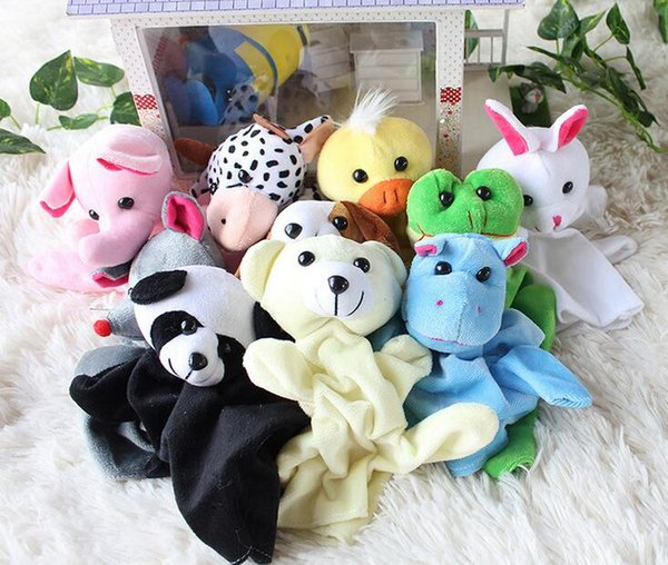 best selling Animals Plush Toys Animals Hand puppets forest animal hand puppet 10inch Kids Toys Puppets Free Shipping