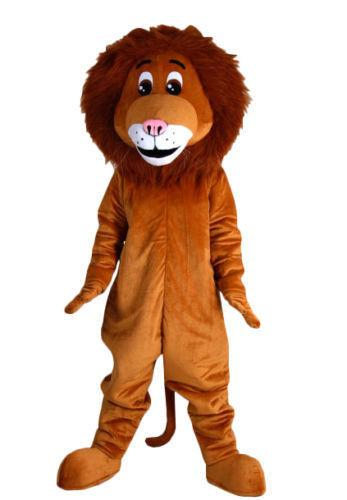 Cute Animal Lion Mascot Costume Fancy Birthday Party Dress Halloween Carnivals Costumes With High Quality For Adult