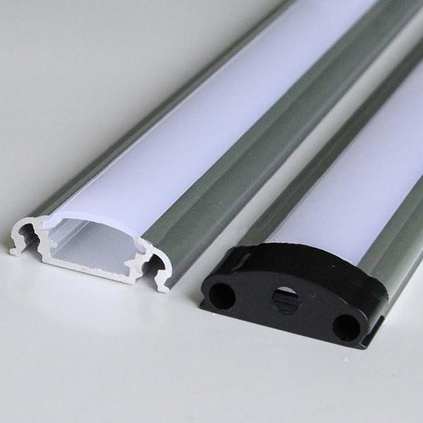 führte Aluminiumprofil, 1m pro Stück, LED Aluminiumextrusionsprofil für geführte Streifen mit milchig diffuser Abdeckung oder transparenter Abdeckung
