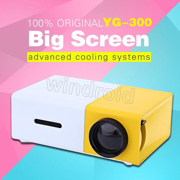 Proiettore LCD YG300 600LM Home Media Player Mini proiettore per videogiochi TV Home Theater Supporto film HDMI SD Home Midea Player 10pcs
