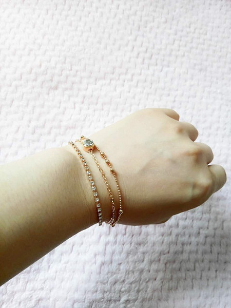 Rose gold 1-3 Rows Crystal Rhinestone Bracelets Tennis Hot sell Items Fashion Jewelry many styles mixde delivery