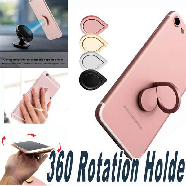 top popular Finger Ring Holder 360 Fidget Spinner Holder Universal Mobile Phone Ring Magnetic Stand For iPhone Sumsung All Handset 2021