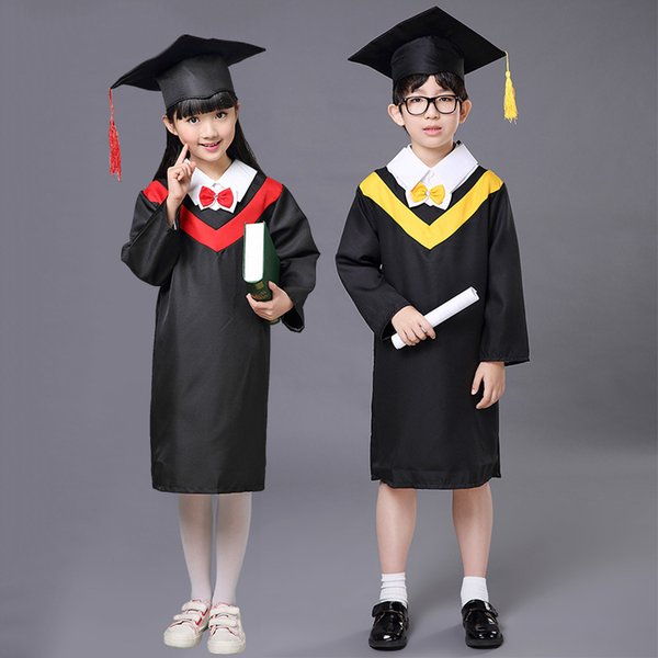 Best 2017 Spring Kids Clothes Doctor Hat + Graduation Gowns Teenage ...