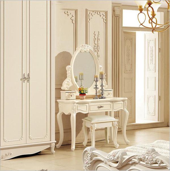 Acquista Prezzo Di Fabbrica RoyalEuropean Specchio Tavolo Moderno Comò  Camera Da Letto Francese Mobili Bianco Francese Toletta Pfy10046 A $582.92  Dal ...