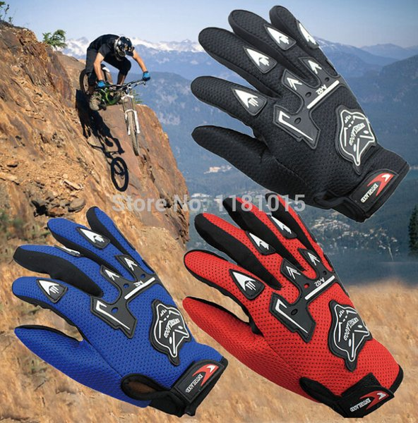 Wholesale- 100% Breathable Motorcycle Gloves Motorbike Motocross MX ATV Quad Dirt Trail Pit Bike Skating Motorcycle Gloves winter summer