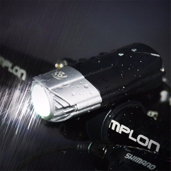 top popular 20pcs USB Rechargeable L2 T6 Bike Front Light Riding Flashlight Lithium Battery Cycling LED Head Light Lamp 2019
