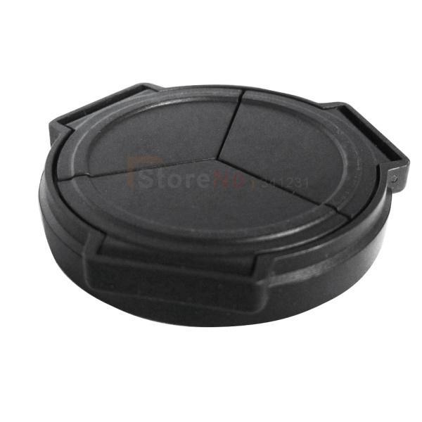 Wholesale-Shoot black Self-Retaining Auto Lens Cap Cover for PANAS&NIC LUMIX DMC LX5 LX-5