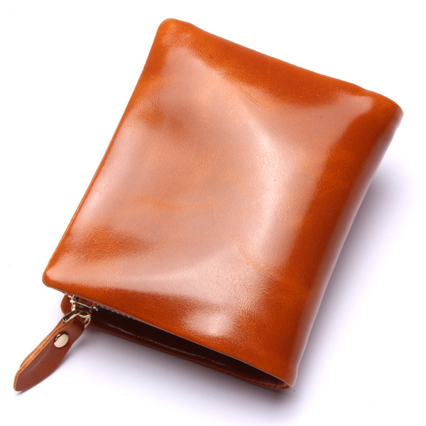 Fashion new zipper in the long section of leather men 's leather wallet ladies clutch purse