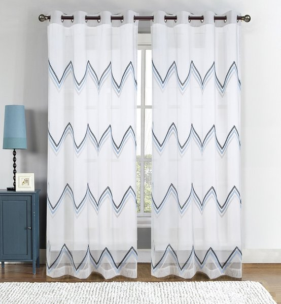 Curtains Voile Tulle Elegant Floral Tulle Voile Door Window Curtain Drape Panel Sheer Scarf Valances Sheer Curtains