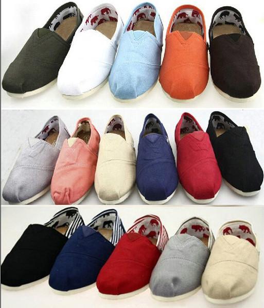 EUR35-45 Gros Marque Mode Femmes Paillettes solides Appartements Chaussures Sneakers Femmes Hommes Toile Chaussures mocassins chaussures de sport Espadrilles drop shipp