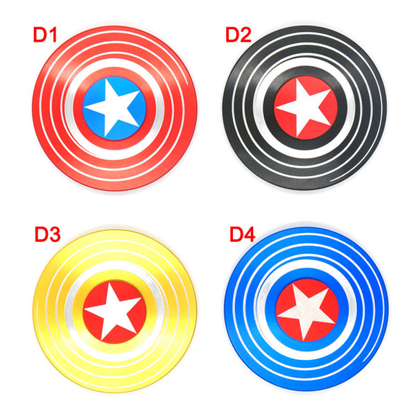 top popular Fidget Spinners Captain America Hand Spinner Zinc Alloy spinning top EDC Autism ADHD Finger Gyro Toy Adult Gifts spin 4minute in metal tin 2020