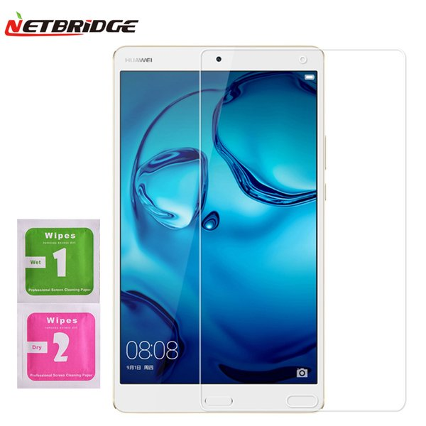 Wholesale-For Huawei Mediapad m3 8.4 Inch Tablet PC Tempered Glass Screen Protector Film 2.5D Edge 9H Transparent Ultra-thin Tablet Glass