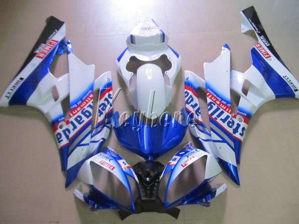 Kit carene iniezione per Yamaha YZF R6 07 08 carenature bianche blu serie yzf R6 2007 2008 IY11