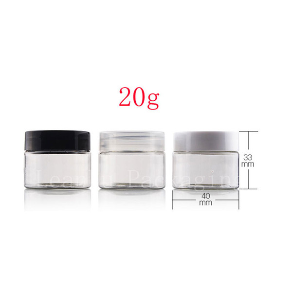 20g empty clear cosmetic jar containers for cream packaging , cream jars tin cosmetic packaging, jars for canning cream box can