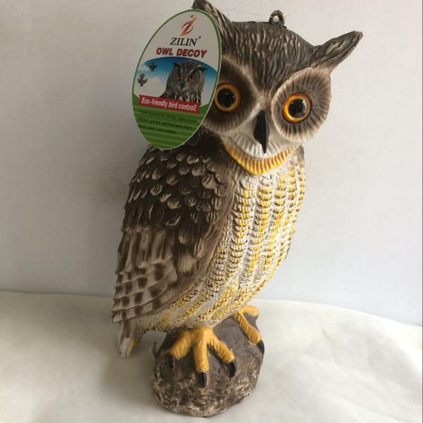 ZILIN Factory Wholesale Great Horned Owl Decoy/ Visual Bird Scaring Plastic  Owl /owl Bird