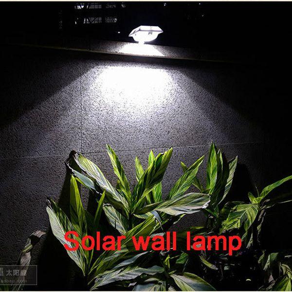 Al por mayor - decoración del jardín LED lámpara de pared solar lámpara impermeable estupenda brillante LED lámpara del patio del hogar luz-control lámpara solar