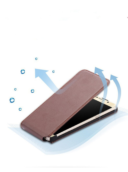 Vertical Unique Design Up-Down Open Magnetic Flip Leather Phone Cover Cases Skin For Iphone 6 6plus