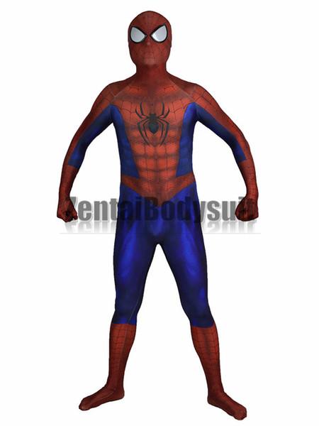 Incredibile nuovo costume Spiderman 3D Stampa Spider-man Supereroe Costume Cosplay Spandex Zentai Tuta