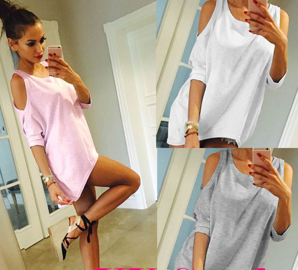 best selling Womens Off Shoulder Loose Shirt Fashion Ladies Summer Casual Blouse Top Shirt