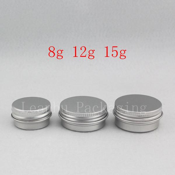 8 г 12 г 15 г небольшой круглый пустой бальзам алюминиевый горшок мини-размер путеше