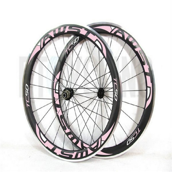 New style 50mm Carbon Wheels Clincher With Alloy Basalt Brake Surface R36 Hub Road Bike Carbon Wheelset Aluminum Braking Surface