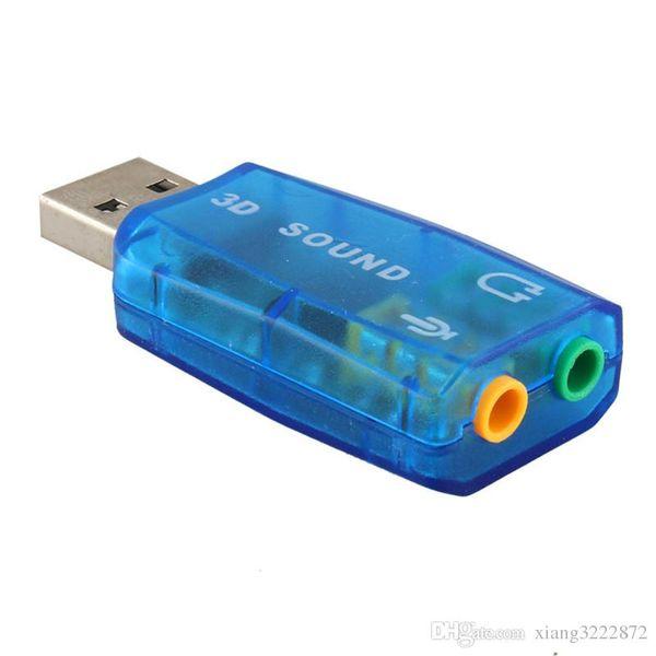 Tarjeta de Sonido USB Audio USB 5.1 Tarjeta de Sonido USB Externa Adaptador de Audio Mic Interfaz de Audio de Altavoz para PC Portátil Micro Data