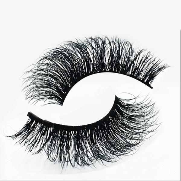 50Pairs 3D Mink False Eyelashes 100% Real Mink Eyelashes cross Handmade Makeup Thick False Eyelashes A-11 free shipping