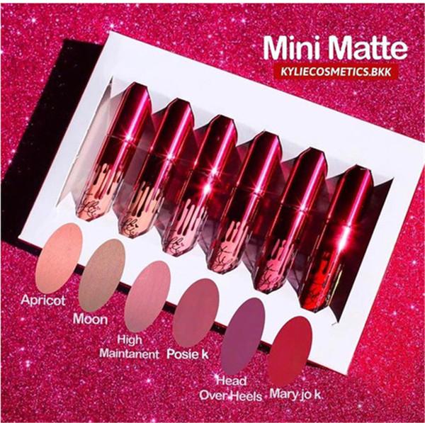 2017Kylie Valentines Collection Lipgloss Set 6 Pcs Lipkit Kylie Jenner Valentine Gift Lipgloss 6pcs one Set